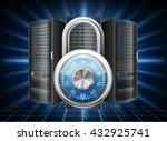 network safety concept   server ... | Shutterstock .eps vector #432925741