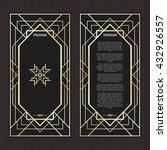 vector geometric cards in art... | Shutterstock .eps vector #432926557