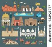 lovely united arab emirates... | Shutterstock . vector #432929797