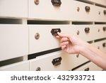 woman opening mailbox | Shutterstock . vector #432933721