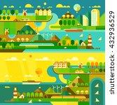 ecology background. travel... | Shutterstock .eps vector #432936529