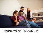 friends enjoying time together...   Shutterstock . vector #432937249