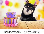 Funny Cute Dog Celebrating His...