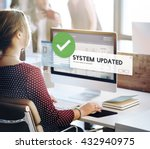 system updated improvement... | Shutterstock . vector #432940975