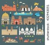 lovely united arab emirates... | Shutterstock .eps vector #432943051
