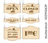 western bar logo set collection ... | Shutterstock .eps vector #432943639