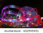 the night view of a amusement... | Shutterstock . vector #432945451