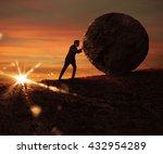struggle and determination | Shutterstock . vector #432954289