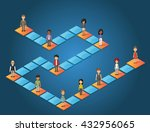 board game with cartoon people... | Shutterstock .eps vector #432956065