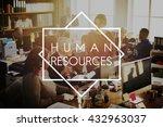 human resources career... | Shutterstock . vector #432963037