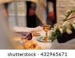 golden beautiful shiny chalice... | Shutterstock . vector #432965671