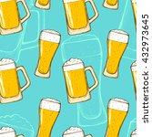 beer seamless pattern.... | Shutterstock .eps vector #432973645
