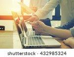 team work concept team meeting... | Shutterstock . vector #432985324
