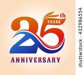 template logo 25th anniversary  ... | Shutterstock .eps vector #432986554