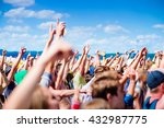 teenagers at summer music... | Shutterstock . vector #432987775