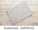 napkin. cloth napkin on white... | Shutterstock . vector #432992131