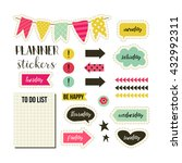 planner stickers. signs ... | Shutterstock .eps vector #432992311