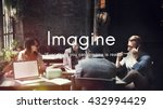 imagine imagination ideas...   Shutterstock . vector #432994429