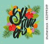 vector illustration. summer ... | Shutterstock .eps vector #432999349
