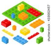 isometric plastic constructor... | Shutterstock .eps vector #433002457