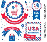 independence day sale   badges  ... | Shutterstock .eps vector #433005109