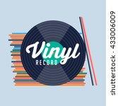 vinyl record. vinyl records... | Shutterstock .eps vector #433006009