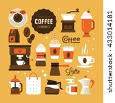 coffee icons for web and... | Shutterstock .eps vector #433014181