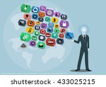 vector business ideas using... | Shutterstock .eps vector #433025215