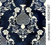 vector illustration. damask... | Shutterstock .eps vector #433029187