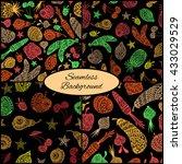 set of four seamless patterns... | Shutterstock .eps vector #433029529