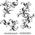 abstract black and white design ... | Shutterstock .eps vector #43303303
