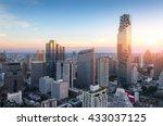 aerial view of bangkok modern... | Shutterstock . vector #433037125