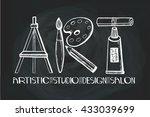art salon design studio logo... | Shutterstock .eps vector #433039699