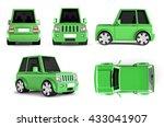 3d illustration of  green suv... | Shutterstock . vector #433041907