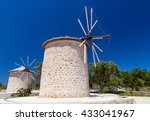 traditional windmills in... | Shutterstock . vector #433041967