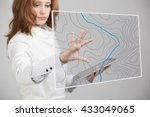 geographic information systems... | Shutterstock . vector #433049065