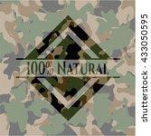 100  natural camouflaged emblem | Shutterstock .eps vector #433050595