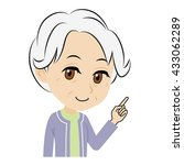 old woman who explains | Shutterstock .eps vector #433062289