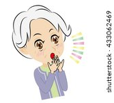 old woman who gets surprised... | Shutterstock .eps vector #433062469