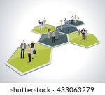 business people connected over... | Shutterstock .eps vector #433063279