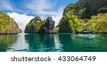 traditional filipino boat in... | Shutterstock . vector #433064749