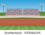 athletic stadium vector | Shutterstock .eps vector #433066144