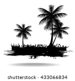 silhouettes and posters with...   Shutterstock .eps vector #433066834