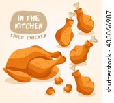 fried chicken isolated set  ... | Shutterstock .eps vector #433066987