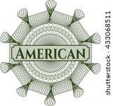 american linear rosette   Shutterstock .eps vector #433068511