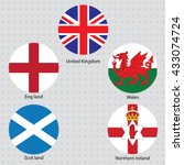 united kingdom collection flags ... | Shutterstock .eps vector #433074724