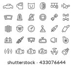 car parts vector icon set in... | Shutterstock .eps vector #433076644
