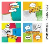 cartoon comic book template... | Shutterstock .eps vector #433077619