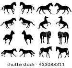 horse collection   vector... | Shutterstock .eps vector #433088311