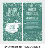 back to school flyer template... | Shutterstock .eps vector #433093315